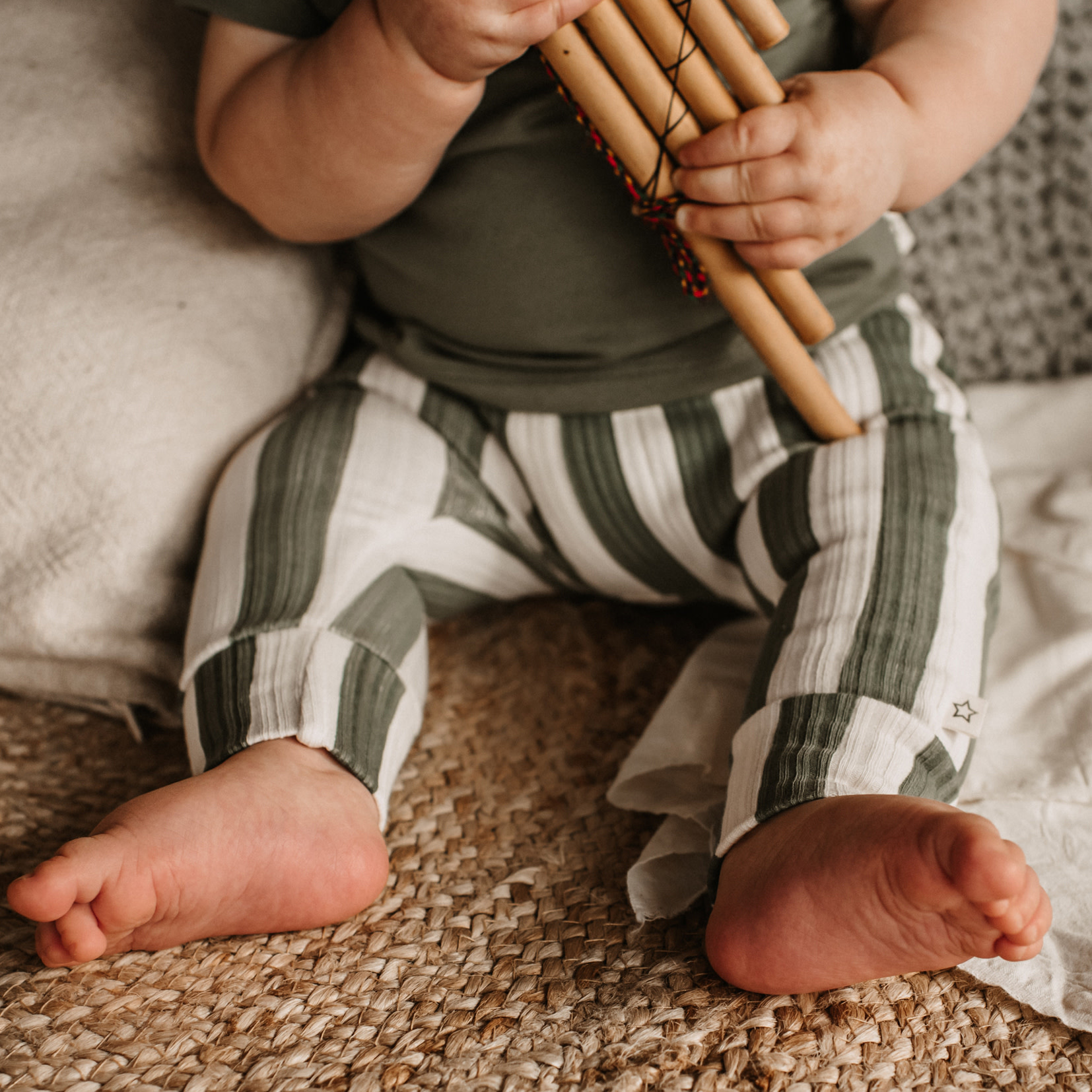 Your Wishes Your Wishes - Fitted Pants Bold Stripes
