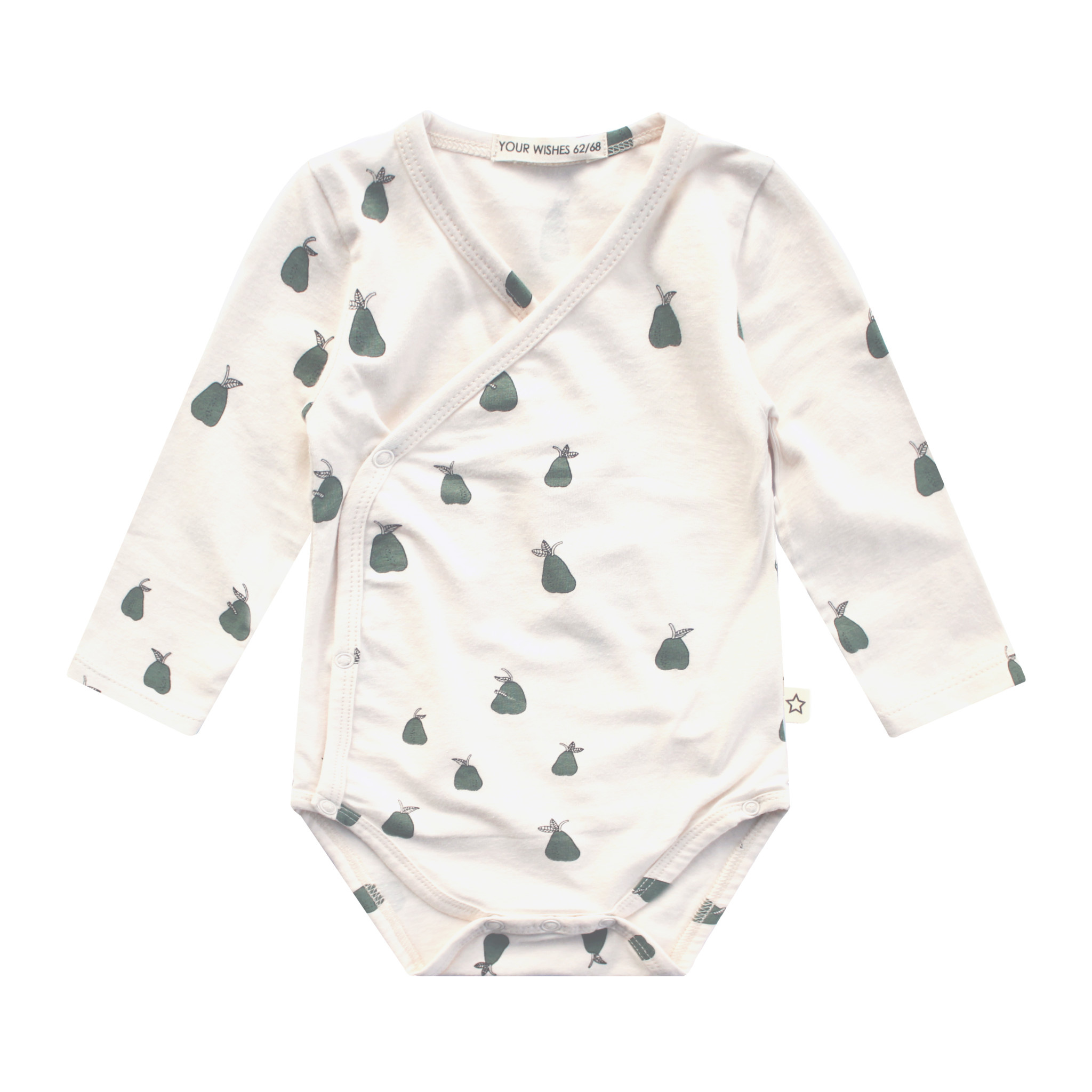Your Wishes Your Wishes - Newborn Romper Pear