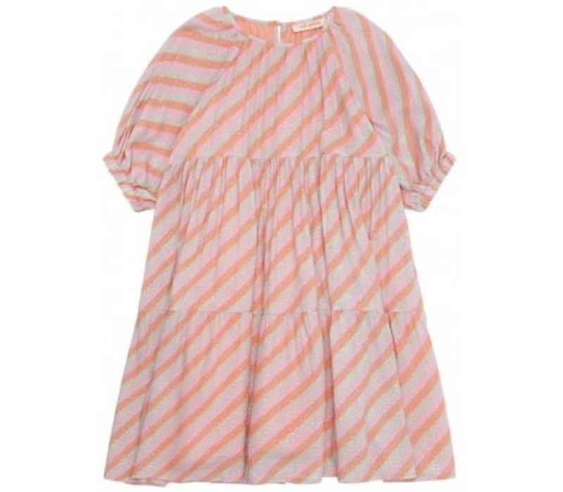 Soft gallery - Honesty dress dewkist aop candystripe - 10 year