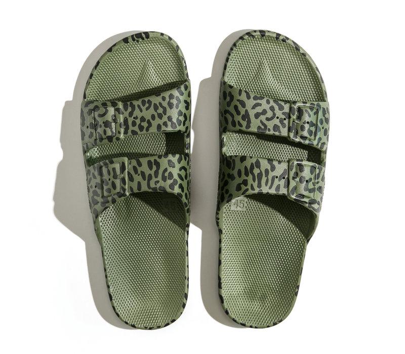 Freedom moses - PU-slippers fancy leo cactus