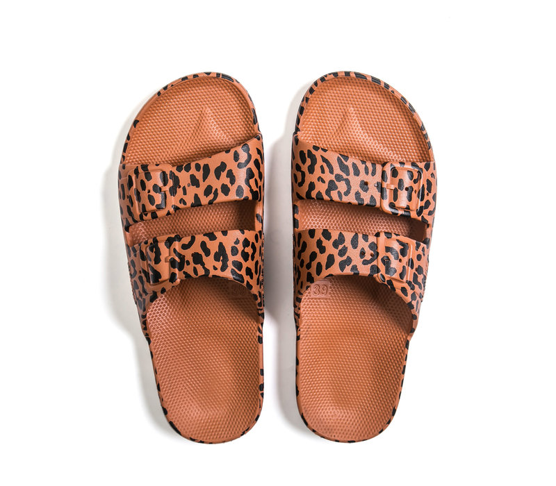Freedom moses - PU-slippers fancy leo toffee