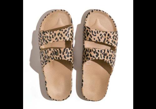 Freedom Moses Freedom mozes - PU-slippers fancy leo camel