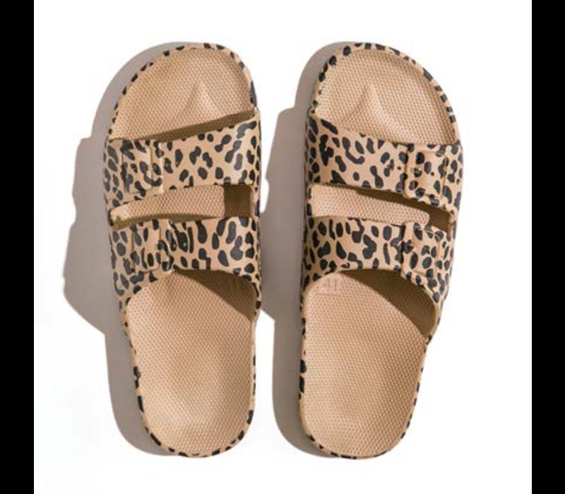 Freedom mozes - PU-slippers fancy leo camel