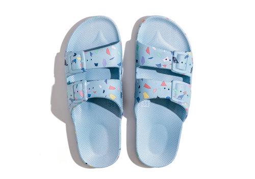 Freedom Moses Freedom moses - PU-slippers fancy terrazo-lagoon
