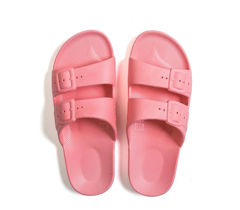 Freedom moses - PU-slippers basic pink martin