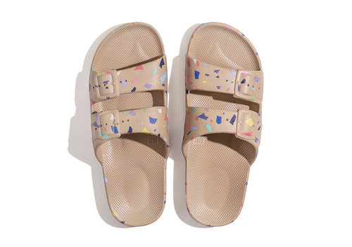 Freedom Moses Freedom moses - PU-slippers fancy terrazo-sands