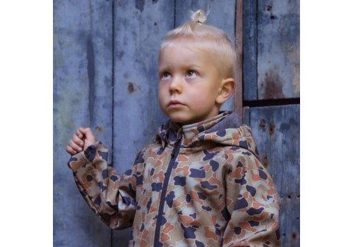 Mikk line Mikk-line - Softshell boys jacket with print blue nights
