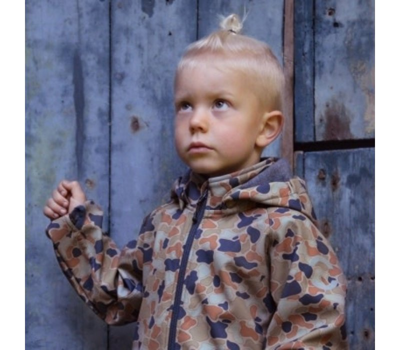 Mikk-line - Softshell boys jacket with print blue nights