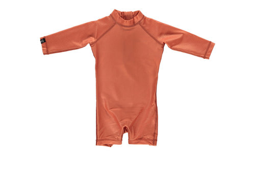 Beach & Bandits Beach & Bandits - Clay ribbed baby swimsuit