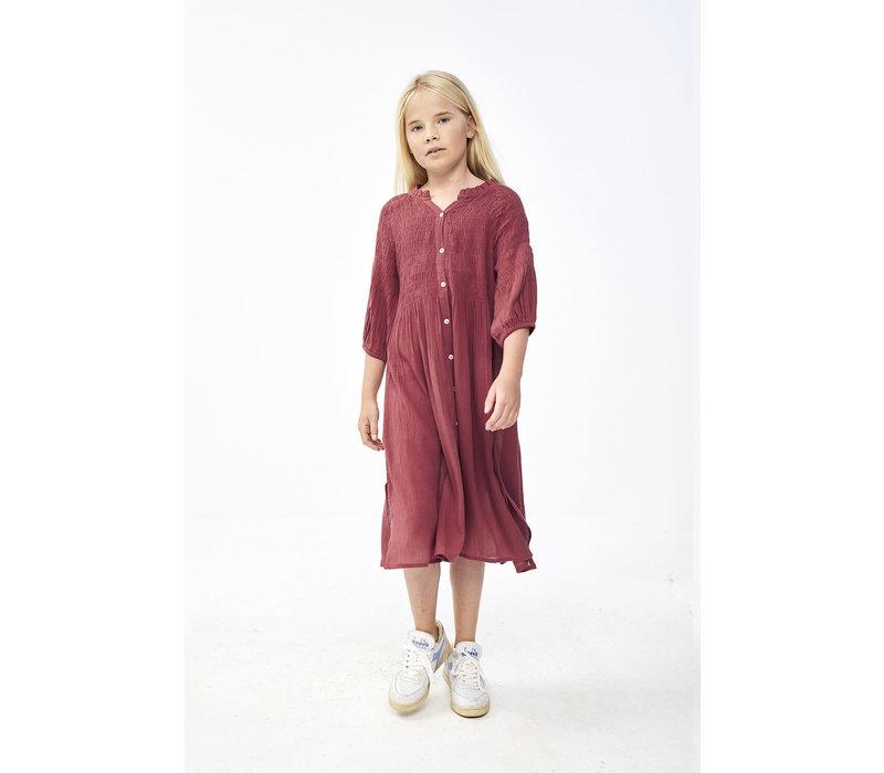 By-Bar - Girls lou lou dress bright plum