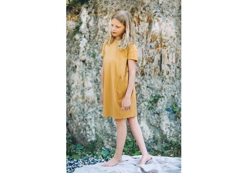 Mingo Mingo - T-shirt dress light ochre