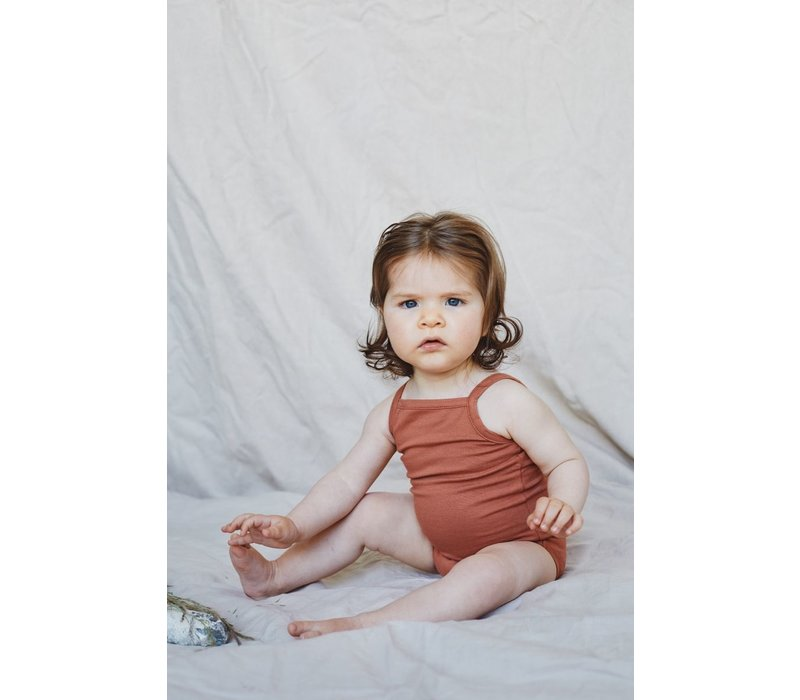 Mingo - Singlet bodysuit sienna rose - 0/6 month