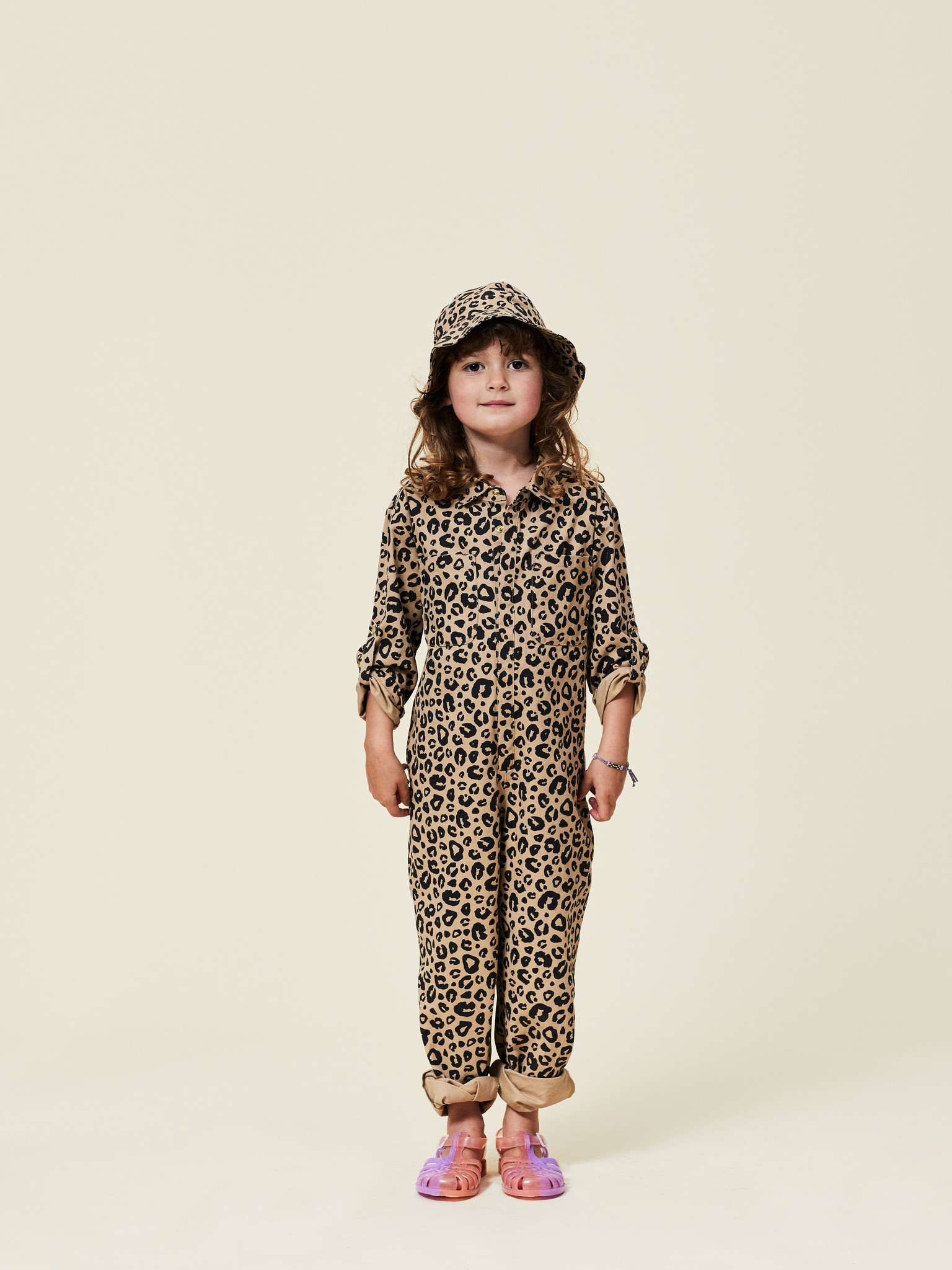 Maed For mini Maed for mini - Caramel leopard aop jumpsuit