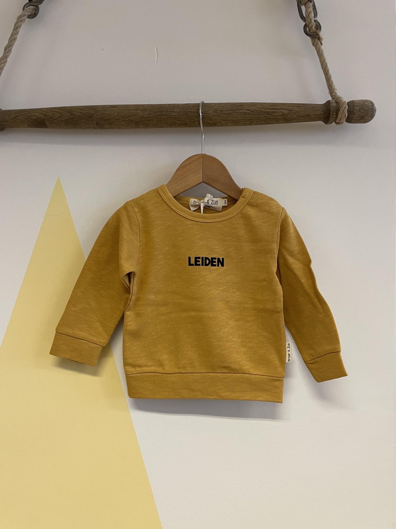 Broer & Zus Broer & Zus - Sweater Leiden Mustard