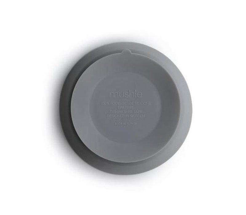 Mushie - Silicone Bowl Stone met zuignap
