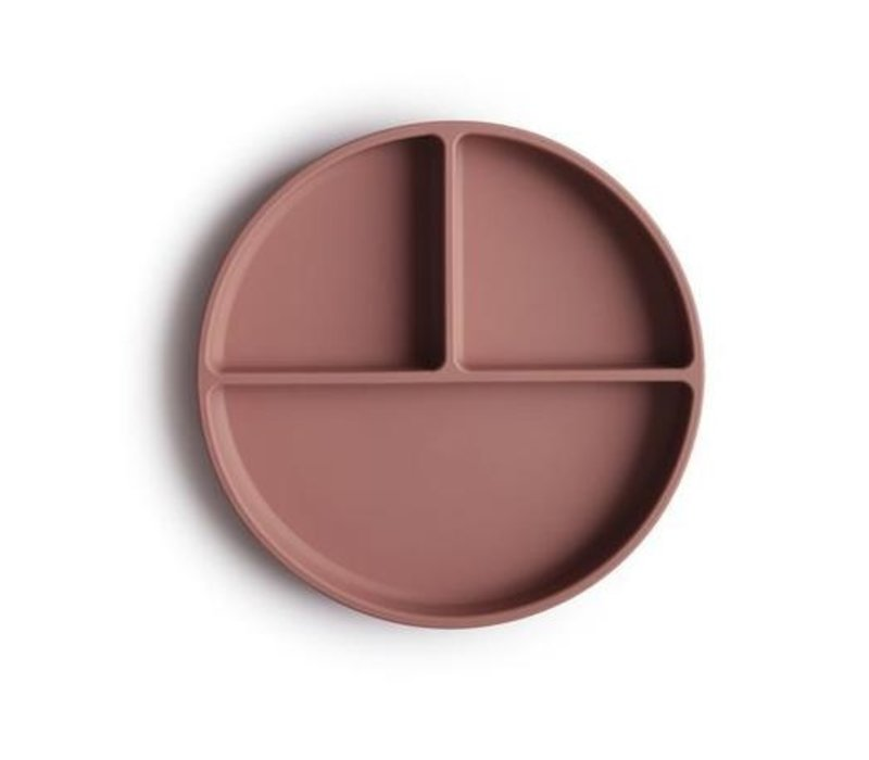Mushie - Silicone Plate Cloudy Mauve