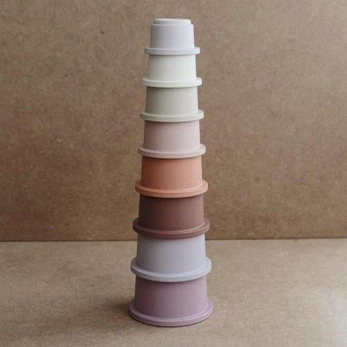 Mushie Mushie - Stacking cups pastel