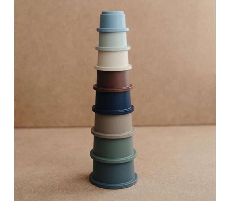 Mushie - Stacking cups forrest