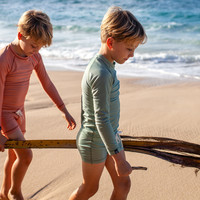 Beach & Bandits - Basil ribbed swimshort