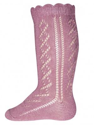 Ewers Ewers - Knee High socks crochet lace dusty rose