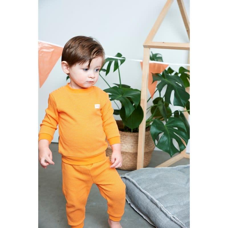 Feetje Feetje  -  Pyjama wafel Oranje