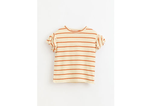 Play Up Play up - Striped jersey t-shirt with ruffles R255O kids