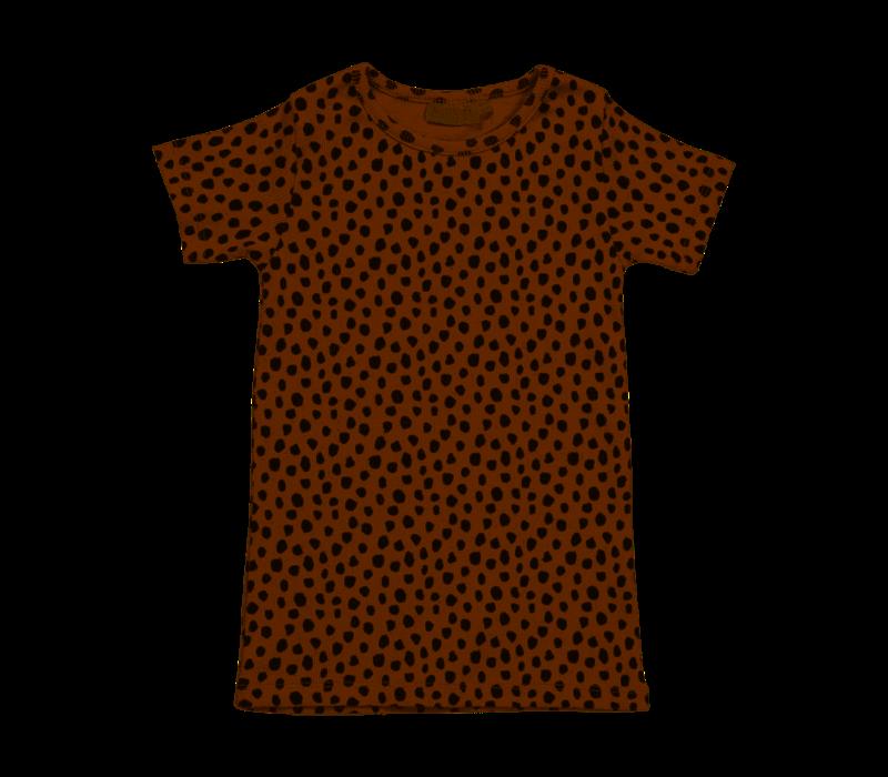 Blossom kids - Short sleeve shirt animal dot warm sand