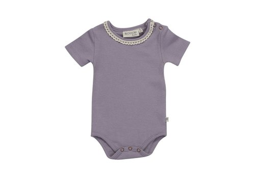 Blossom kids Blossom kids - Body short sleeve with lace lavender gray