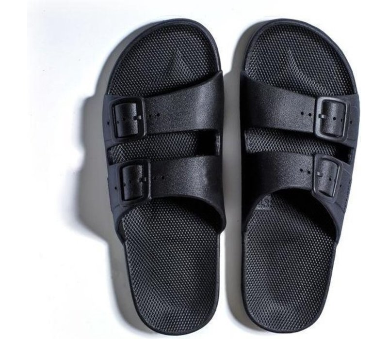 Freedom moses - PU-slippers basic black