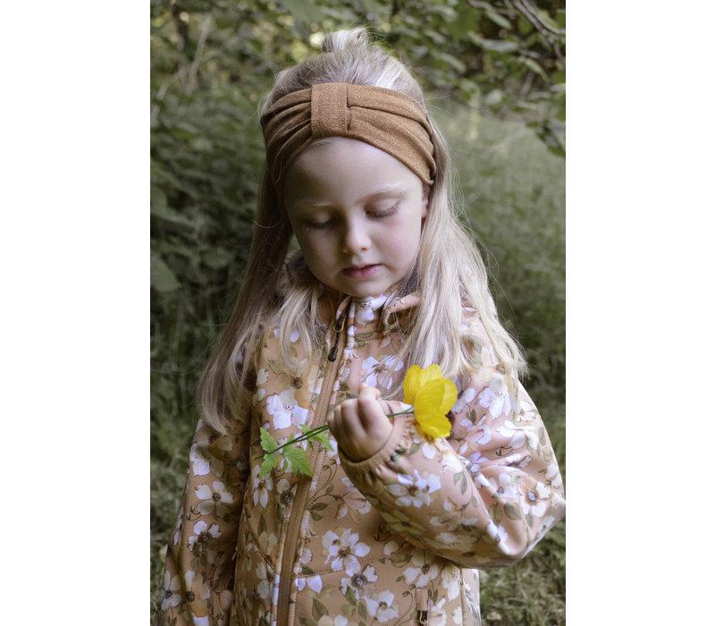 Mikk-line - Softshell girls jacket with print cafe au lait maat 80