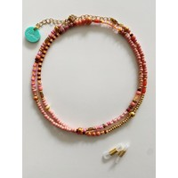 Bymelo - Brillenkoord / ketting licht roze