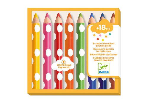 Djeco Djeco - 8 kleurpotloden voor kleintjes