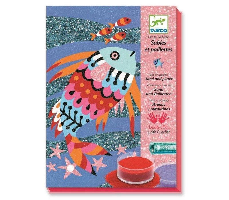 Djeco - Kleuren met zand Vis
