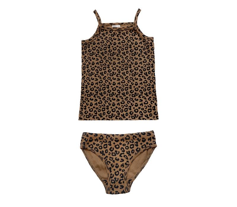 Maed For Mini essentials - Underwear girls Chocolate Leopard