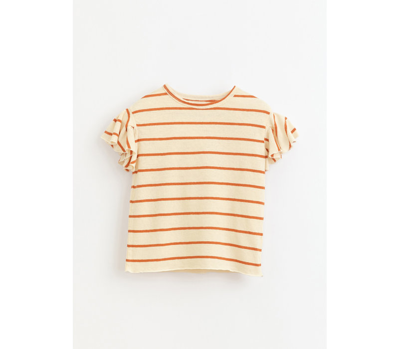 Play up - Striped jersey t-shirt with ruffles R255O baby