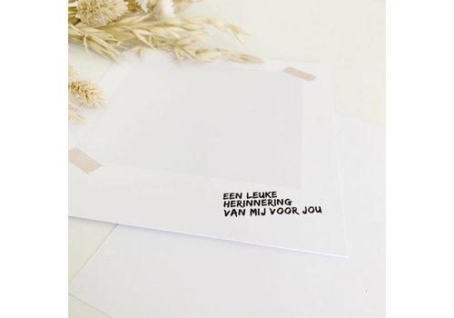 Liefde op papier Liefde op papier -  Herinerringskaart juf/meester