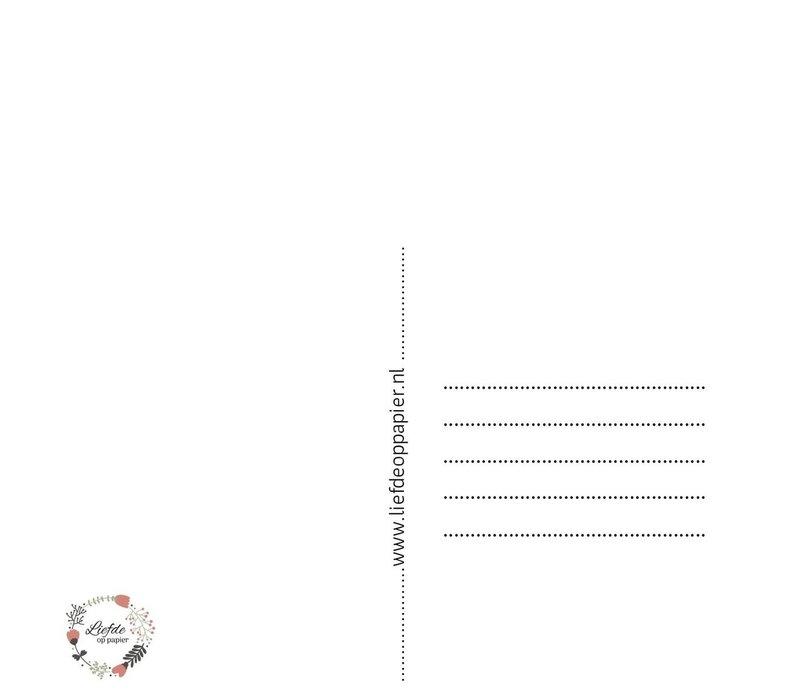 Liefde op papier - Kaart geboorte meisje