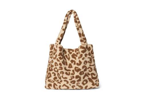 Studio Noos Studio Noos - Teddy Leopard Ecru  mom Bag