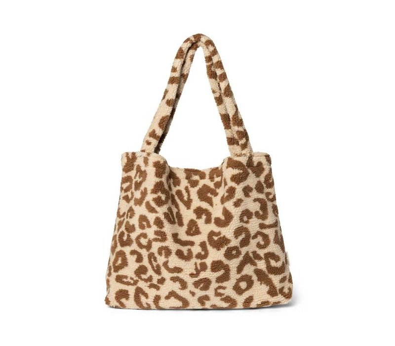 Studio Noos - Teddy Leopard Ecru  mom Bag