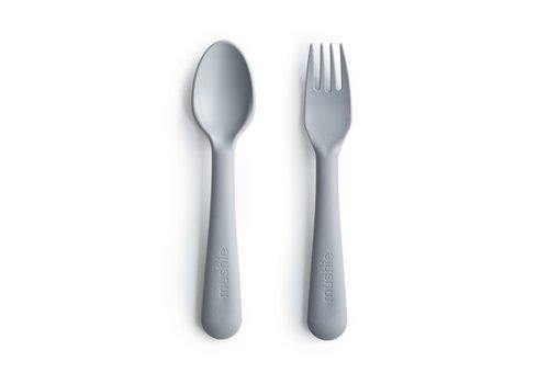 Mushie Mushie - Bestek vork & lepel Cloud
