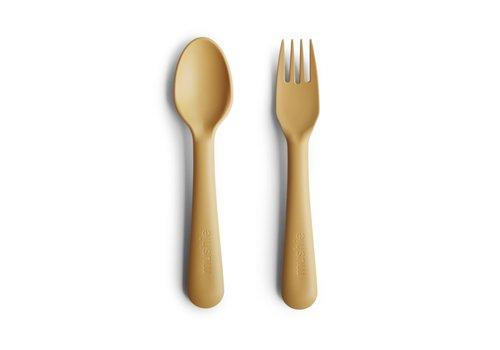 Mushie Mushie - Bestek vork & lepel Mustard
