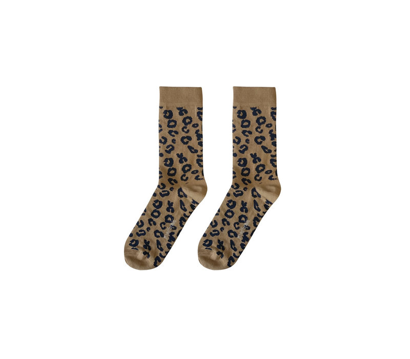 Maed for Mini Essentials - Mama socks Brown leopard aop