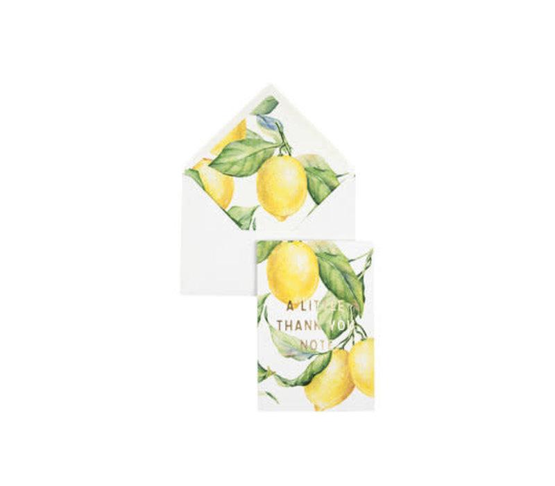 Creative Lab - Yellow Lemon Tree - A little thank you note