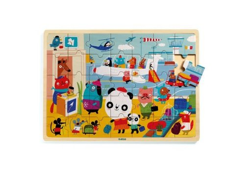 Djeco Djeco - Houten puzzel airport