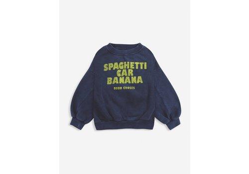 Bobo Choses Bobo choses - Spaghetti car banana sweatshirt