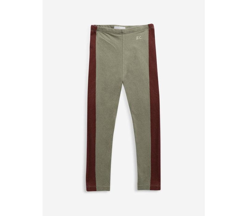 Bobo choses -Maroon stripes leggings