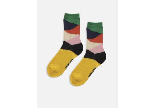 Bobo Choses Bobo choses - Multi color block short socks