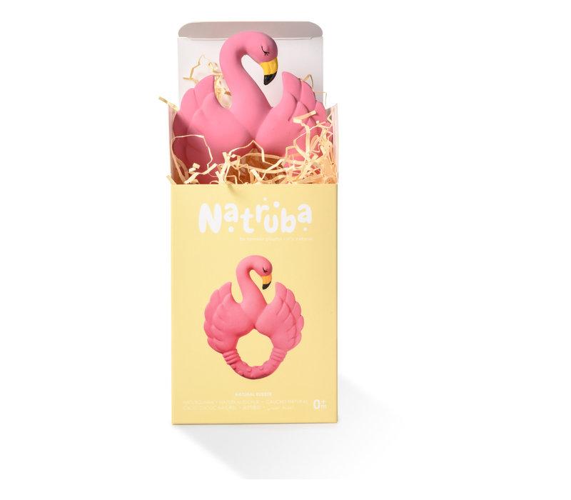 Natruba - Teether Flamingo pink