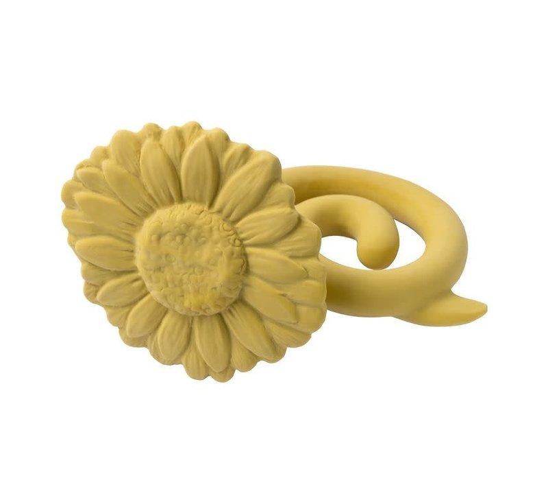 Natruba - Teether rattle Sunflower yellow