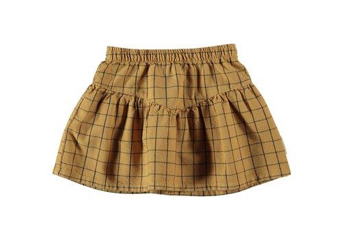"Piupiuchick Piupiuchick - Short skirt ""v"" shape camel checkered"